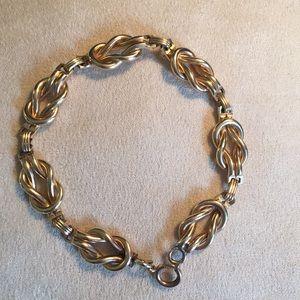 Vintage AWC Co. Jewelry - 1950's Love Knot Bracelet